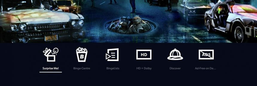 Features Of Binge Streaming Service