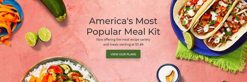 Screenshot From Hellofresh Website