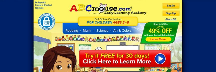Screenshot Of Abcmouse Website