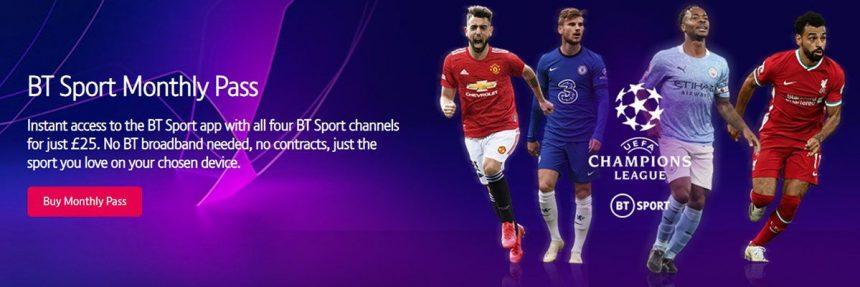 Screenshot Of Bt Sport Website
