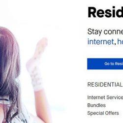 Screenshot Of Centurylink Website