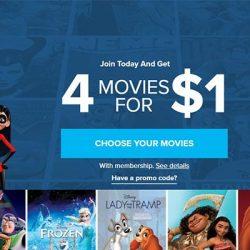 Screenshot Of Disney Movie Club Website