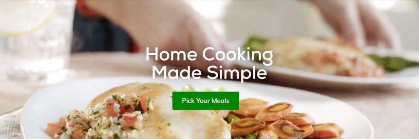 Screenshot Of Home Chef Website