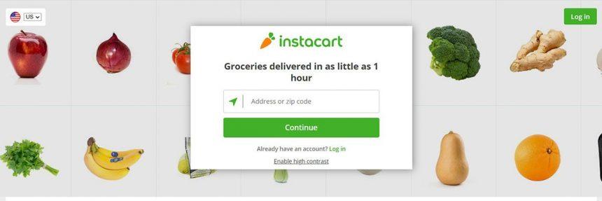 Screenshot Of Instacart Website