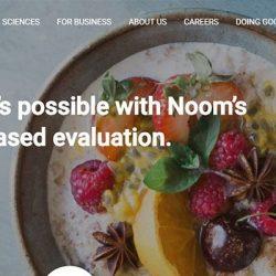 Screenshot Of Noom Website
