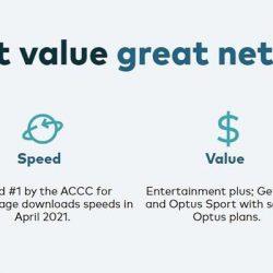 Screenshot Of Optus Plan Website