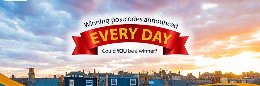 Screenshot Of Postcode Lottery Website