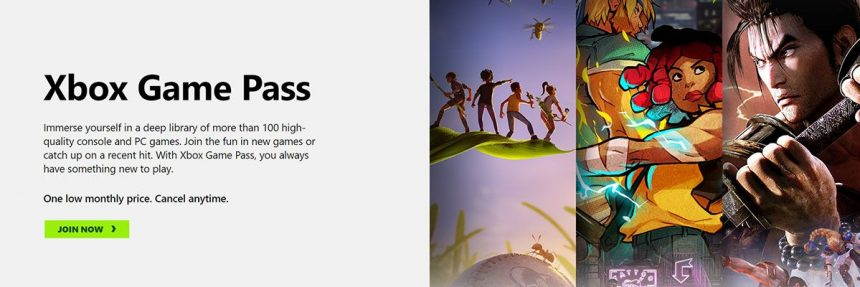 Screenshot Of Xbox Game Pass Website