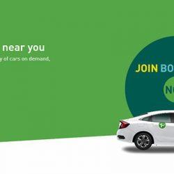 Screenshot Of Zipcar Website
